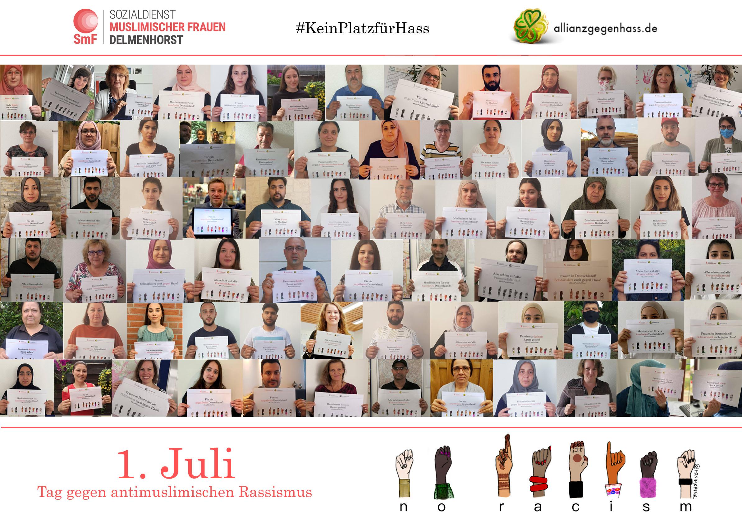 1. Juli Tag gegen antimuslimischen Rassismus